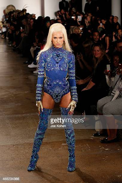 A model walks the runway during The Blonds 2015 at Milk Studios on September 10 2014 in New York City