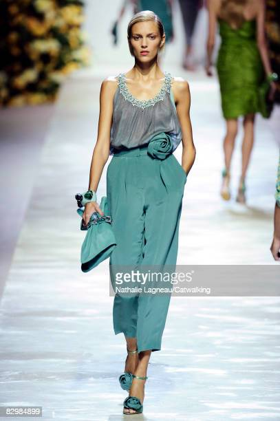 A model walks the runway during the Blumarine show part of Milan Fashion Week Spring/Summer 2009 on September 232008 in MilanItaly