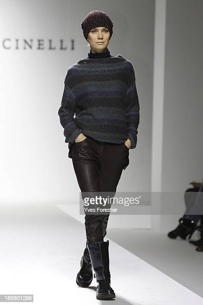 A model walks the runway during the Brunello Cucinelli fashion show at Hotel International Tashkent on October 25 2013 in Tashkent Uzbekistan