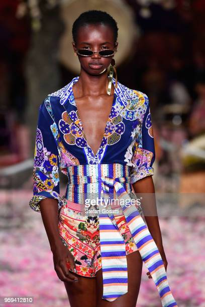 A model walks the runway during the Camilla show at MercedesBenz Fashion Week Resort 19 Collections at Carriageworks on May 17 2018 in Sydney...