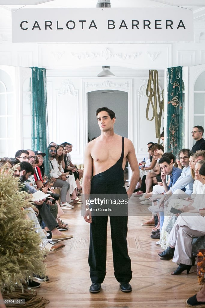 A model walks the runway during the Carlota Barrera show at Mercedes Benz Fashion Week Madrid Spring/ Summer 2019 on July 12, 2018 in Madrid, Spain.