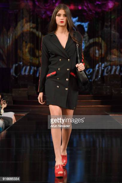 A model walks the runway during the Carmen Steffens presentation at New York Fashion Week Powered by Art Hearts Fashion NYFW at The Angel Orensanz...