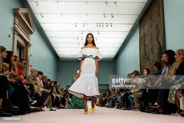 A model walks the runway during the Carolina Herrera Fashion Show during New York Fashion Week on September 10 2018 in New York City