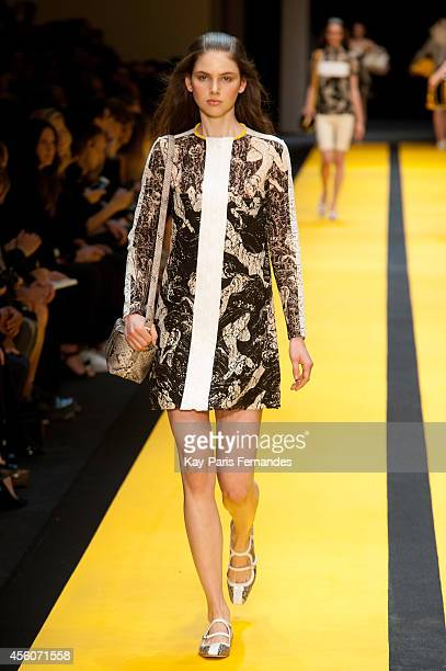 A model walks the runway during the Carven show as part of the Paris Fashion Week Womenswear Spring/Summer 2015 on September 25 2014 in Paris France