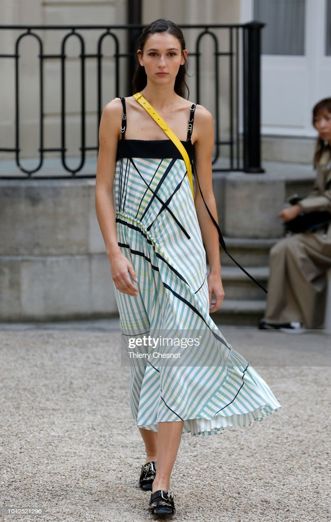 model-walks-the-runway-during-the-cedric-charlier-show-as-part-of-the-picture-id1042521296