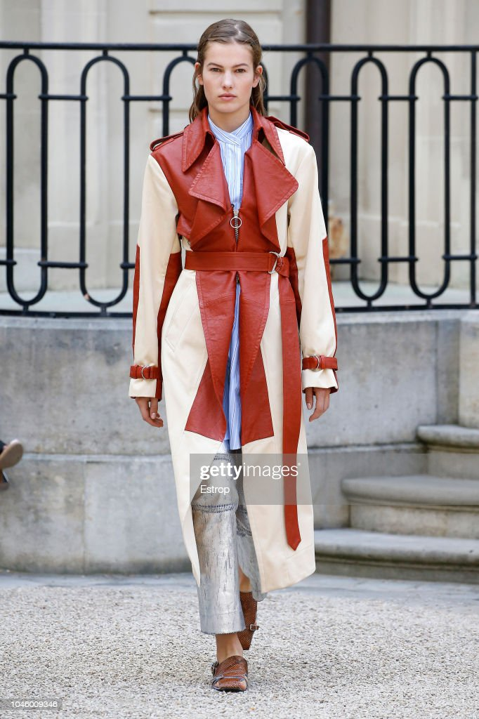 model-walks-the-runway-during-the-cedric-charlier-show-as-part-of-the-picture-id1046009346