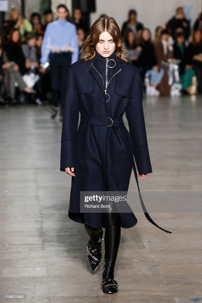 model-walks-the-runway-during-the-cedric-charlier-show-as-part-of-the-picture-id1133272637