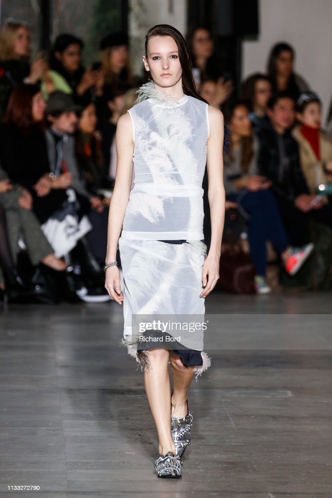 model-walks-the-runway-during-the-cedric-charlier-show-as-part-of-the-picture-id1133272790