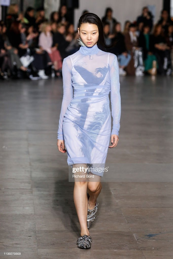 model-walks-the-runway-during-the-cedric-charlier-show-as-part-of-the-picture-id1133273303