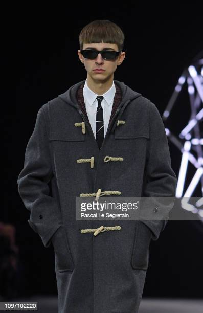 Model walks the runway during the Celine Menswear Fall/Winter 2019-2020 show as part of Paris Fashion Week on January 20, 2019 in Paris, France.