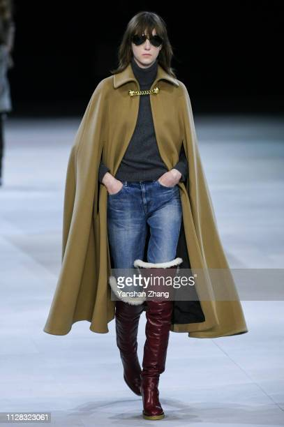 A model walks the runway during the Celine show as part of the Paris Fashion Week Womenswear Fall/Winter 2019/2020 on March 1 2019 in Paris France
