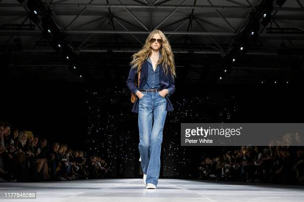 A model walks the runway during the Celine Womenswear Spring/Summer 2020 show as part of Paris Fashion Week on September 27 2019 in Paris France
