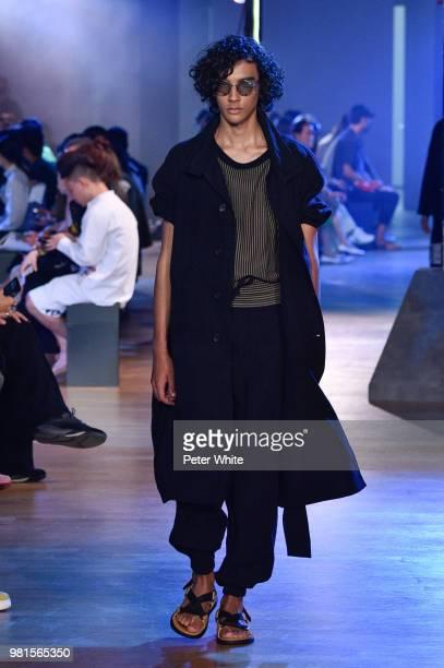 Model walks the runway during the Cerruti 1881 Menswear Spring/Summer 2019 show as part of Paris Fashion Week on June 22, 2018 in Paris, France.