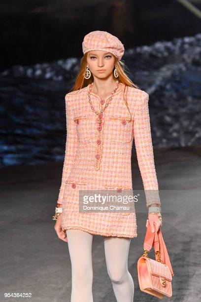 2ad2fd9da6fc A model walks the runway during the Chanel Cruise 2018 2019 Collection at  Le Grand