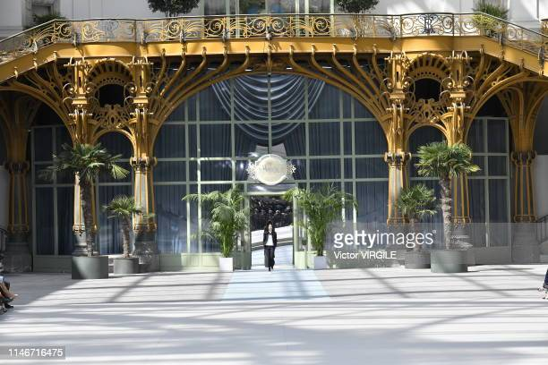 Model walks the runway during the Chanel Cruise Collection 2020 at Grand Palais on May 03, 2019 in Paris, France.