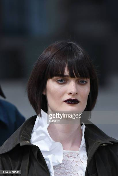 A model walks the runway during the Chanel Cruise Collection 2020 at Grand Palais on May 03 2019 in Paris France