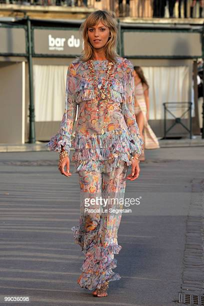 A model walks the runway during the Chanel Cruise Collection Presentation on May 11 2010 in SaintTropez France