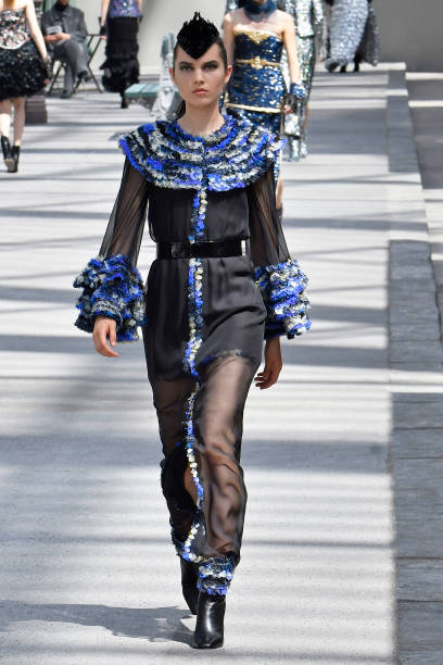 cee37bea A model walks the runway during the Chanel Haute Couture Fall Winter 2018/2019  fashion