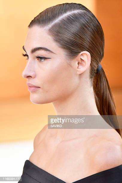 A model walks the runway during the Chanel Haute Couture Fall/Winter 2019 2020 show as part of Paris Fashion Week on July 02 2019 in Paris France