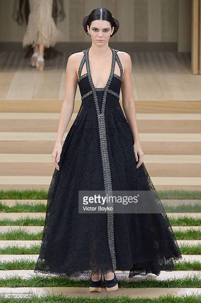 A model walks the runway during the Chanel Haute Couture Spring Summer 2016 show as part of Paris Fashion Week on January 26 2016 in Paris France