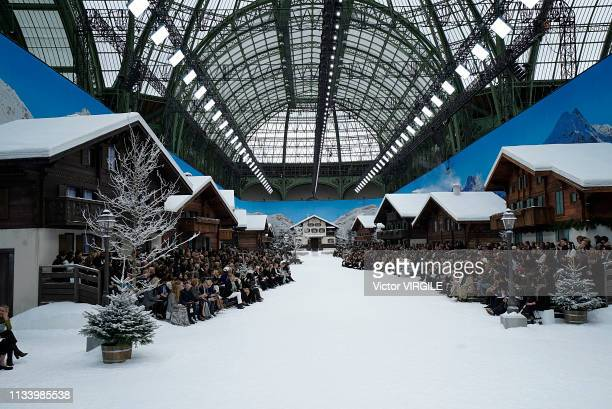 Model walks the runway during the Chanel Ready to Wear fashion show as part of the Paris Fashion Week Womenswear Fall/Winter 2019/2020 on March 5,...