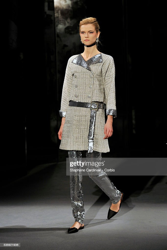A model walks the runway during the Chanel show as part of the Paris Haute Couture Fashion Week Spring/Summer 2011, in Paris.