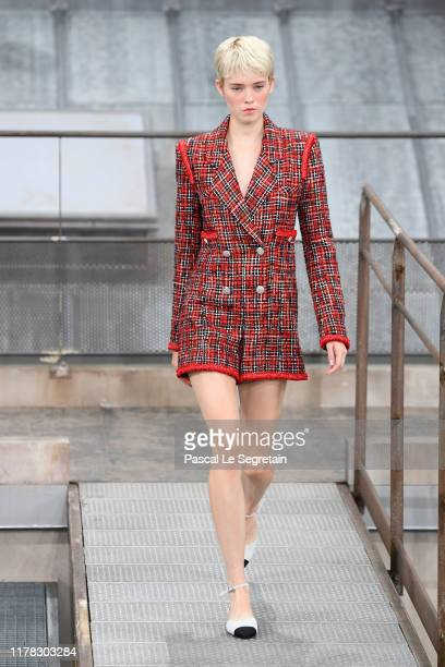Model walks the runway during the Chanel Womenswear Spring/Summer 2020 show as part of Paris Fashion Week on October 01, 2019 in Paris, France.