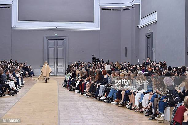 A model walks the runway during the Chloe fashion show as part of the Paris Fashion Week Womenswear Fall/Winter 2016/2017 on March 3 2016 in Paris...