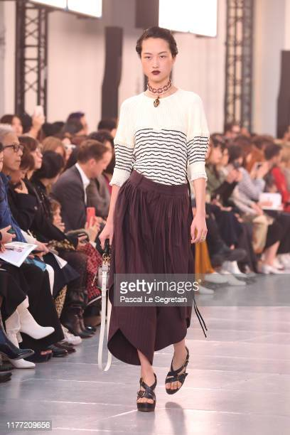 Model walks the runway during the Chloe Womenswear Spring/Summer 2020 show as part of Paris Fashion Week on September 26, 2019 in Paris, France.