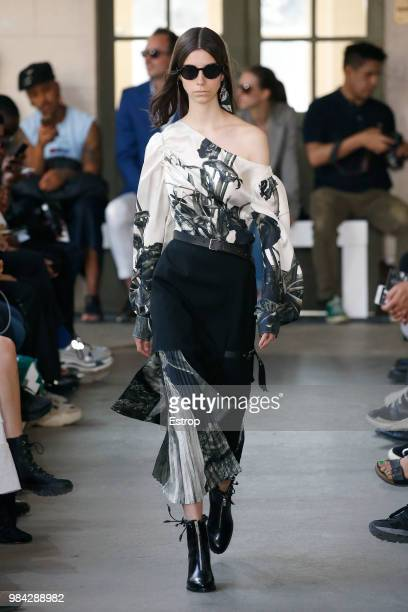 A model walks the runway during the Christian Dada Menswear Spring/Summer 2019 show as part of Paris Fashion Week on June 24 2018 in Paris France