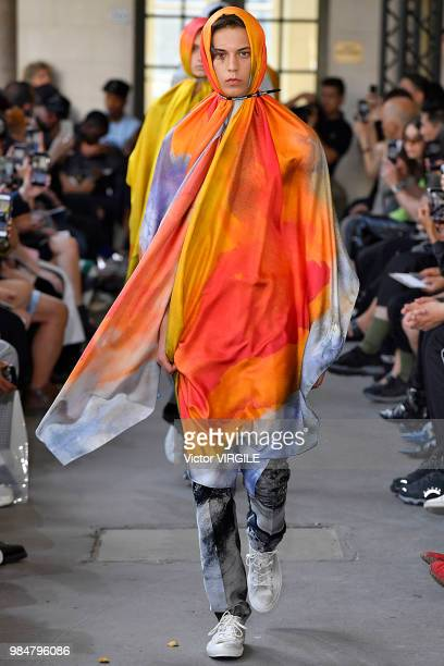 A model walks the runway during the Christian Dada Menswear Spring/Summer 2019 fashion show as part of Paris Fashion Week on June 24 2018 in Paris...