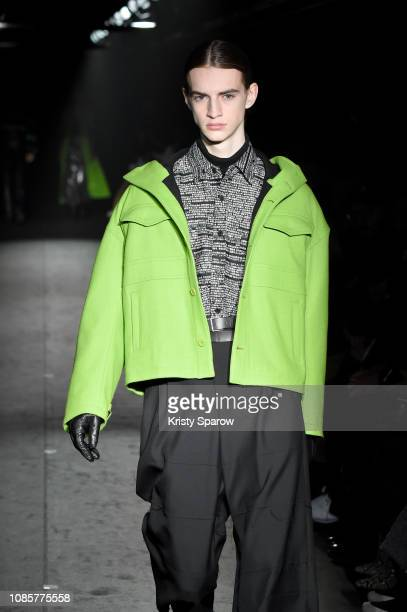 A model walks the runway during the Christian Dada Menswear Fall/Winter 20192020 show as part of Paris Fashion Week on January 20 2019 in Paris France