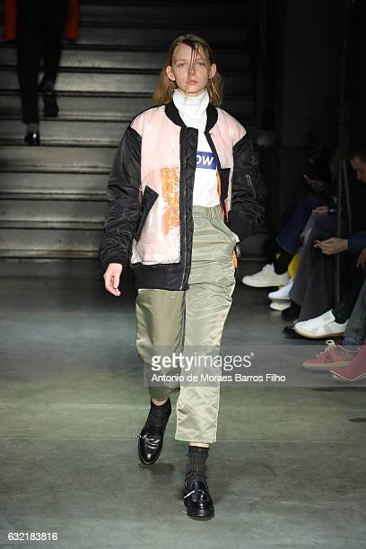 A model walks the runway during the Christian Dada Menswear Fall/Winter 20172018 show as part of Paris Fashion Week on January 20 2017 in Paris France
