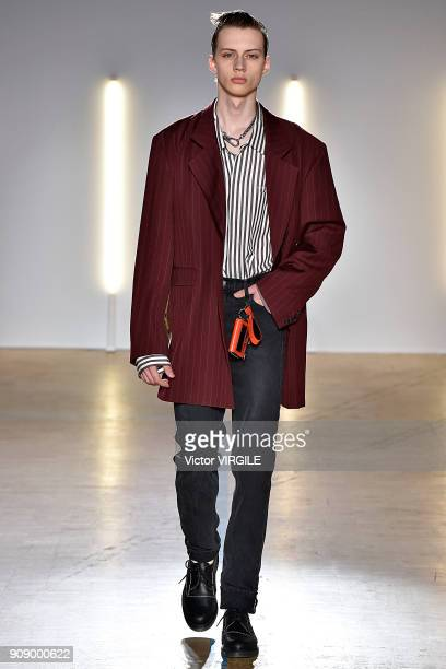 A model walks the runway during the Christian Dada Menswear Fall/Winter 20182019 show as part of Paris Fashion Week on January 21 2018 in Paris France