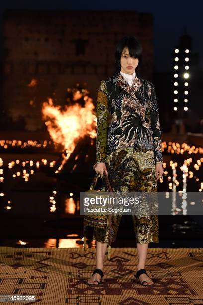 A model walks the runway during the Christian Dior Couture S/S20 Cruise Collection on April 29 2019 in Marrakech Morocco