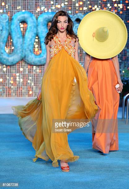 A model walks the runway during the Christian Dior Cruise 2009 Collection at Gustavino's May 12 2008 in New York City