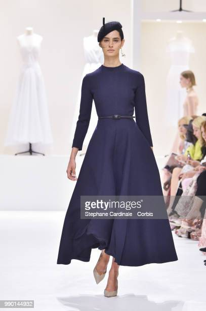 A model walks the runway during the Christian Dior Haute Couture Fall Winter 2018/2019 show as part of Paris Fashion Week on July 2 2018 in Paris...