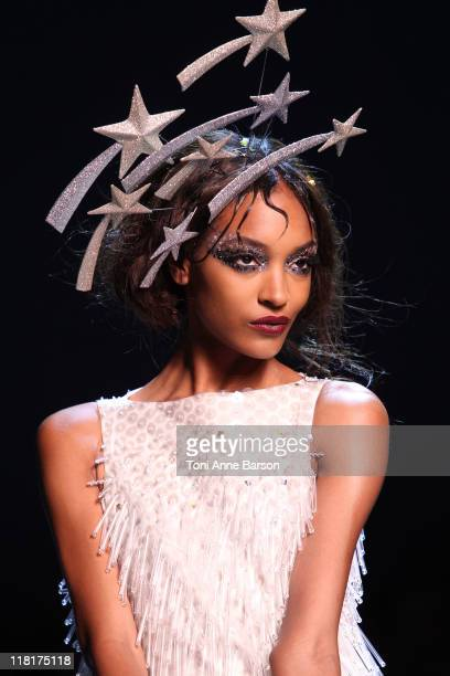Model walks the runway during the Christian Dior Haute Couture Fall/Winter 2011/2012 show as part of Paris Fashion Week at Musee Rodin on July 4,...