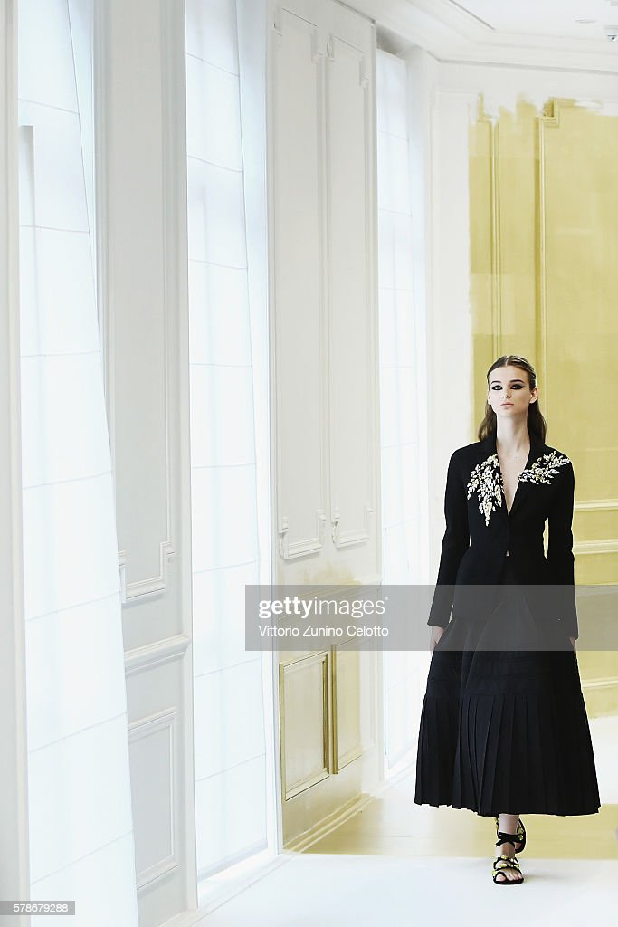 A model walks the runway during the Christian Dior Haute Couture Fall/Winter 2016-2017 show as part of Paris Fashion Week on July 4, 2016 in Paris, France.
