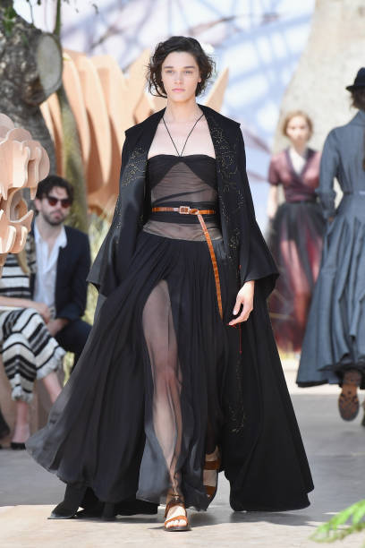 A model walks the runway during the Christian Dior Haute Couture  Fall Winter 2017- 1b775f040bc9d