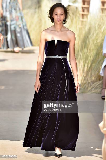 Model walks the runway during the Christian Dior Haute Couture Fall/Winter 2017-2018 show as part of Haute Couture Paris Fashion Week on July 3, 2017...