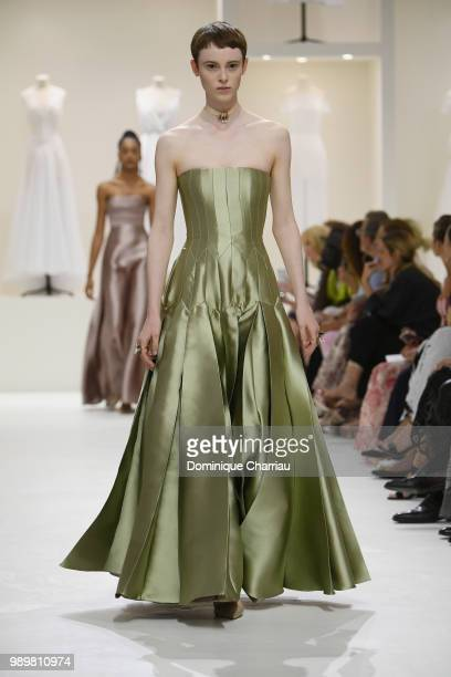 A model walks the runway during the Christian Dior Haute Couture Fall/Winter 20182019 show as part of Haute Couture Paris Fashion Week on July 2 2018...