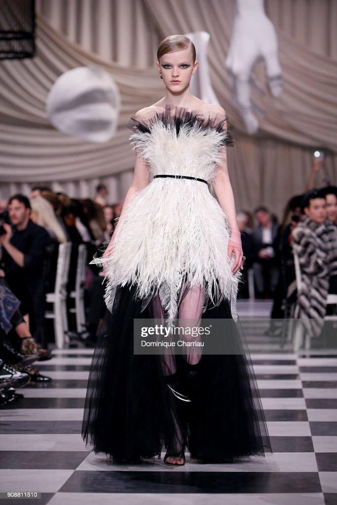 Christian Dior : Runway - Paris Fashion Week - Haute Couture Spring Summer 2018 : Nieuwsfoto's
