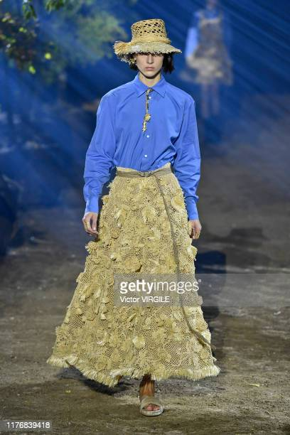 A model walks the runway during the Christian Dior Ready to Wear Spring/Summer 2020 show as part of Paris Fashion Week on September 24 2019 in Paris...