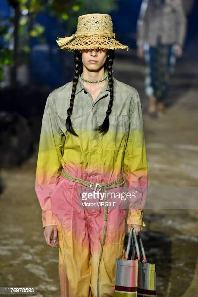 Model walks the runway during the Christian Dior Ready to Wear Spring/Summer 2020 show as part of Paris Fashion Week on September 24, 2019 in Paris,...
