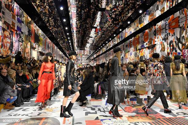 Model walks the runway during the Christian Dior Ready to Wear Fall/Winter 2018-2019 fashion show as part of the Paris Fashion Week Womenswear...