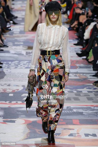 A model walks the runway during the Christian Dior Ready to Wear Fall/Winter 20182019 fashion show as part of the Paris Fashion Week Womenswear...
