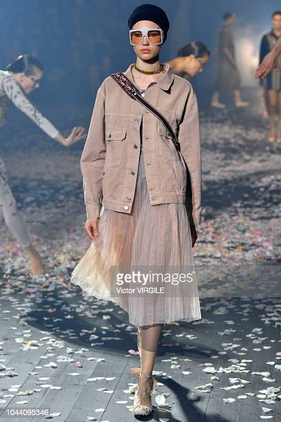 A model walks the runway during the Christian Dior Ready to Wear fashio show as part of the Paris Fashion Week Womenswear Spring/Summer 2019 on...