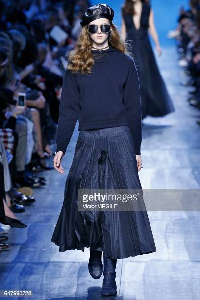A model walks the runway during the Christian Dior Ready to Wear fashion show as part of the Paris Fashion Week Womenswear Fall/Winter 2017/2018 on...