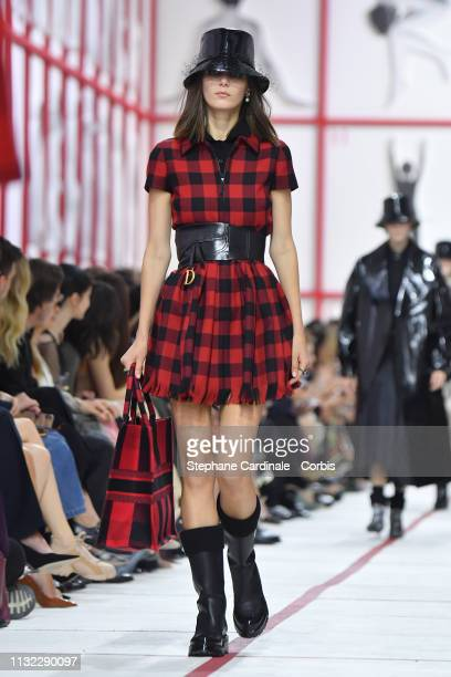 A model walks the runway during the Christian Dior show as part of the Paris Fashion Week Womenswear Fall/Winter 2019/2020 on February 26 2019 in...